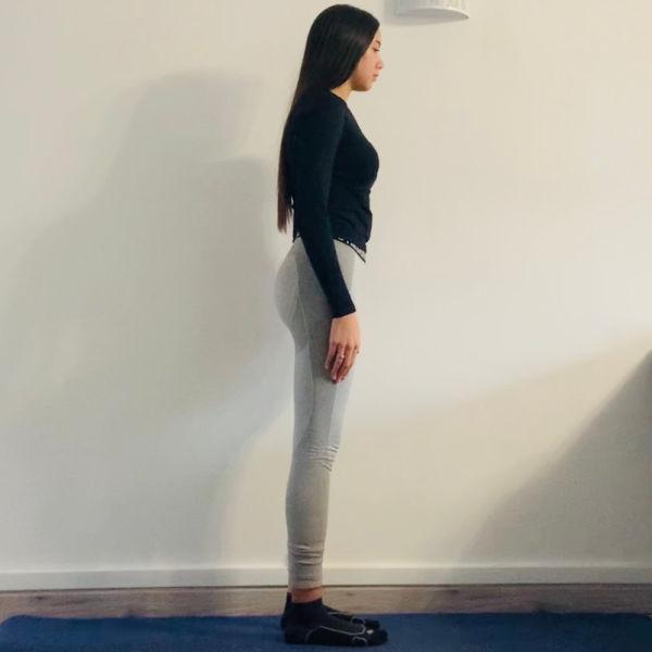 La chaise yogique ou Utkatāsana - Yoga - Etape 1
