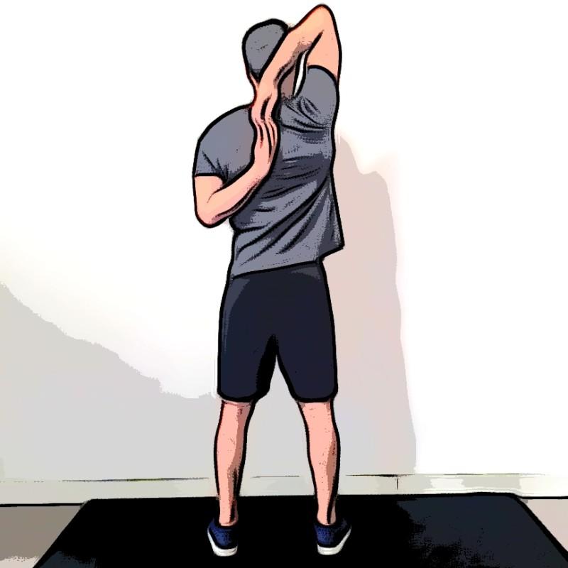 Étirement deltoïdes bras derrières le dos