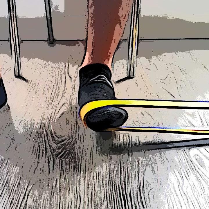 Adduction cheville avec élastique - Etape 3