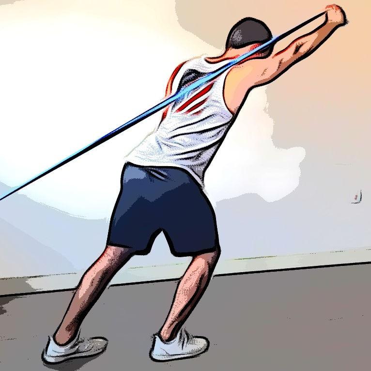 Extension triceps au dessus de la tête avec élastique - Etape 2