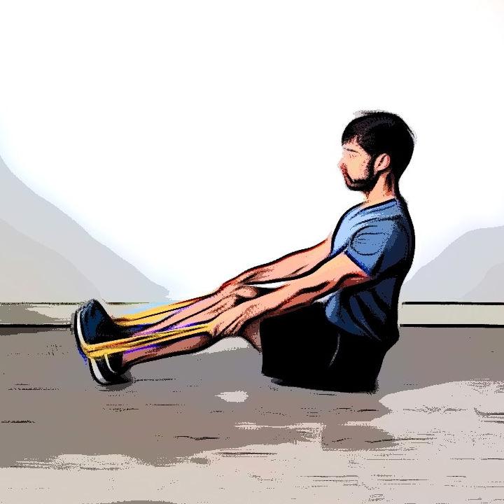 Tirage horizontal avec élastique - Etape 1