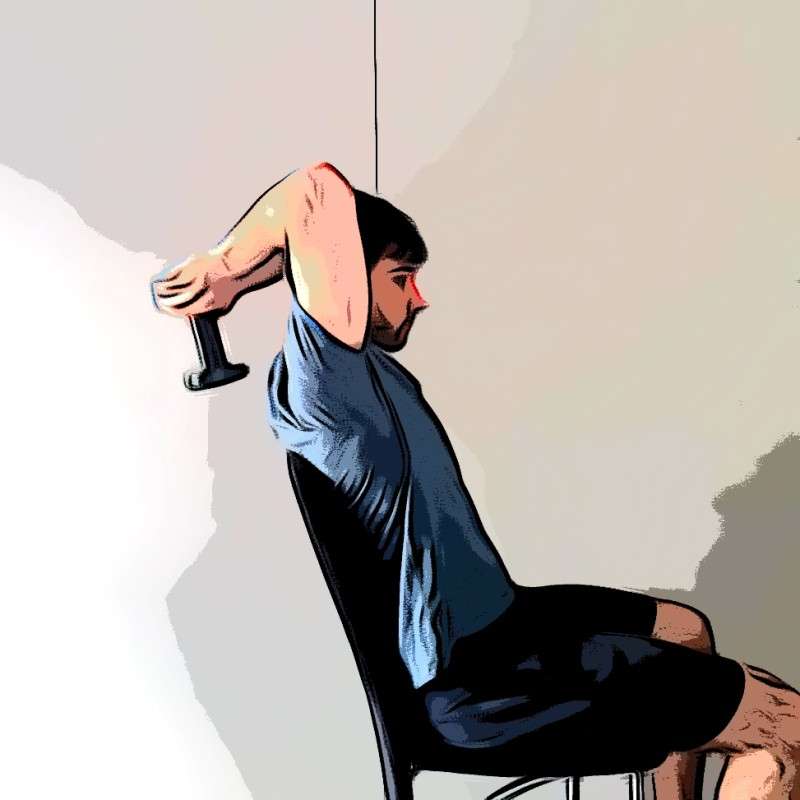 Extensions verticales triceps - Etape 2