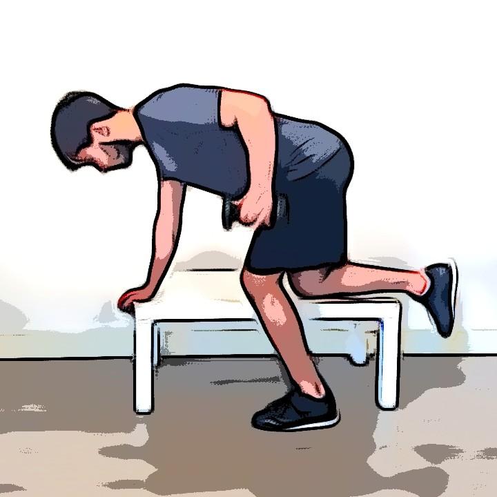 Miniature Rowing unilatéral haltère/bûcheron