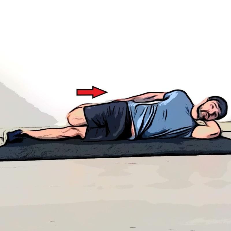 Étirement du quadriceps allongé sur le côté - Etape 2