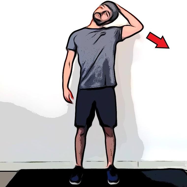 Étirement latéral du cou - Etape 2