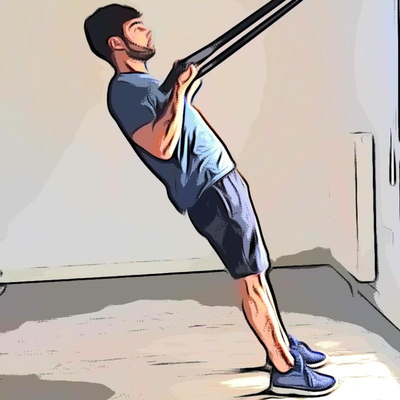 TRX curl biceps - Etape 2