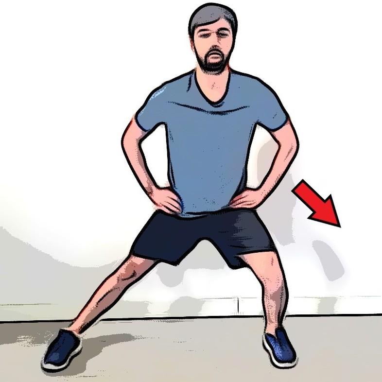 Étirement adducteur debout en flexion - Etape 2
