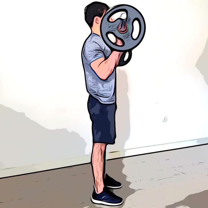 Curl biceps barre pronation - Etape 2