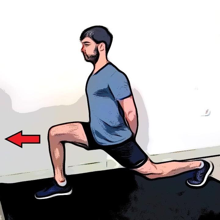 Étirement du quadriceps en fente large - Etape 2