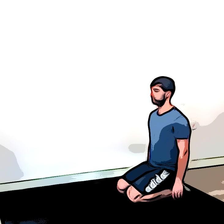 Kneeling jump squat - Etape 1
