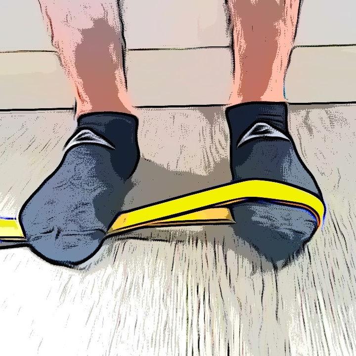 Abduction de la cheville avec élastique - Etape 1