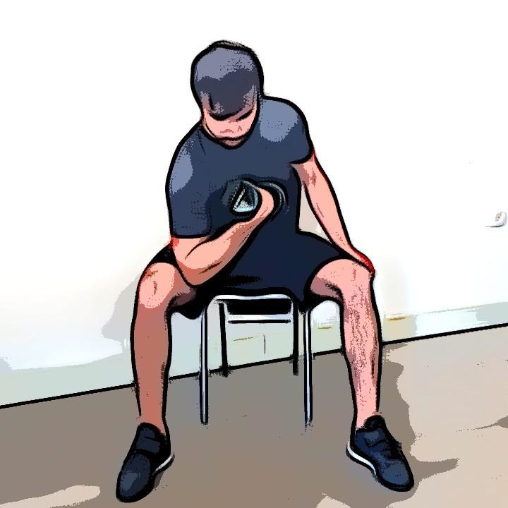 Curl biceps concentré