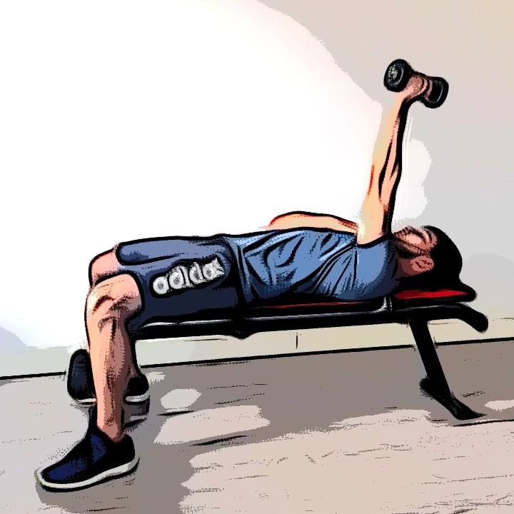 Extensions triceps couché - Etape 3