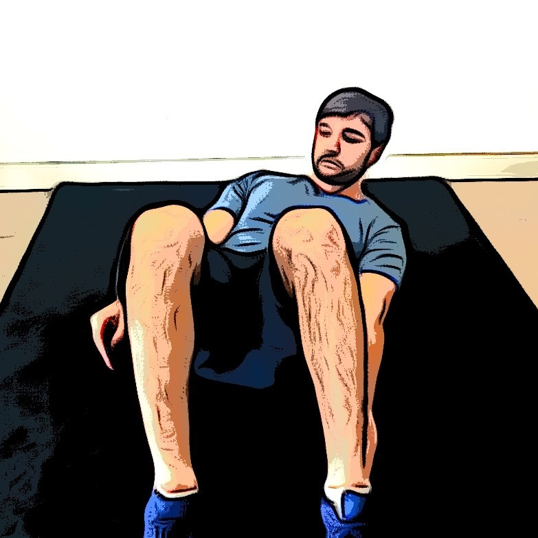 Flexions latérales sur tapis - Etape 2