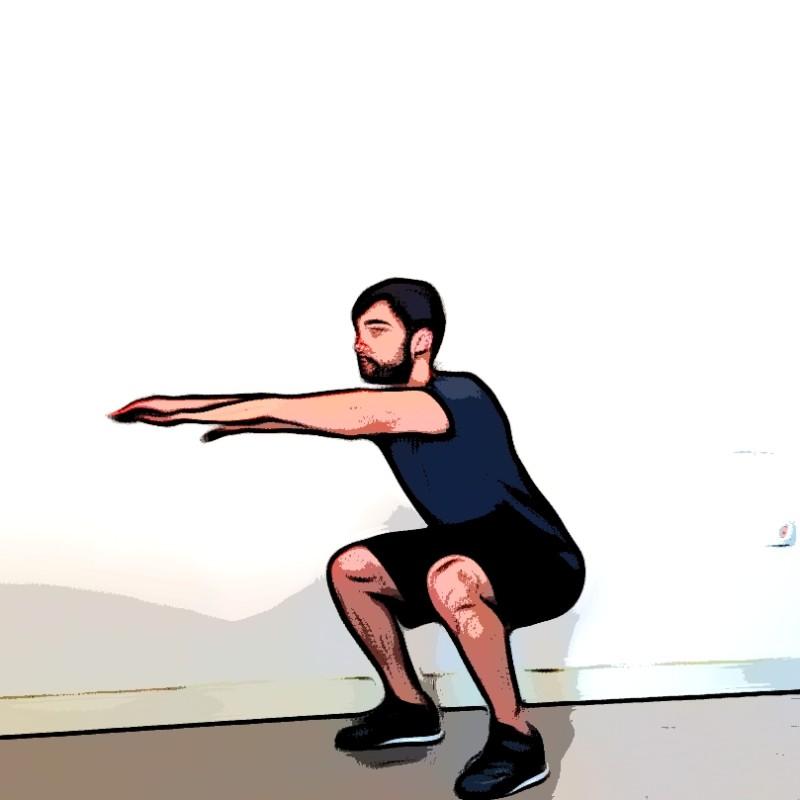 Miniature Squat au poids du corps