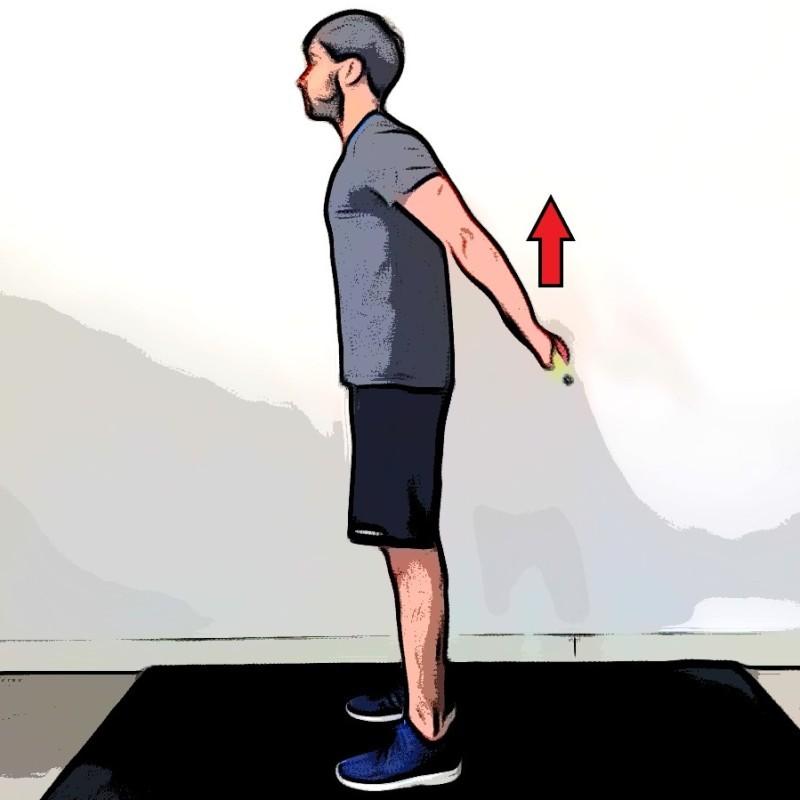 Étirement des deltoïdes à la barre dans le dos - Etape 2