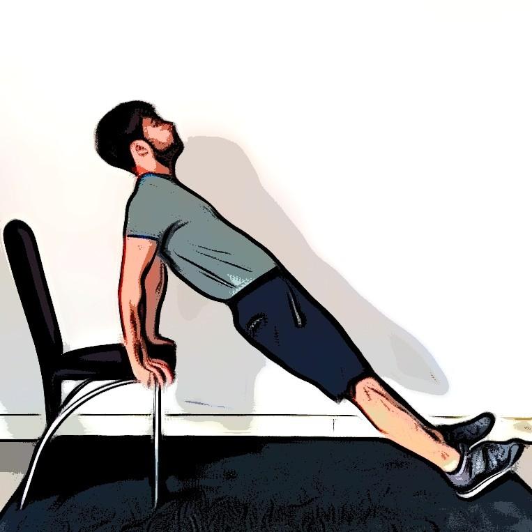 Triceps dips - Etape 3