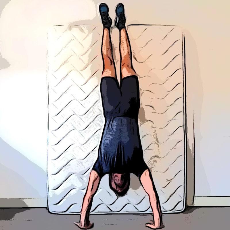 HSPU handstand push-ups - Etape 3