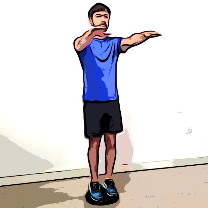 Squat avec coussin d'équilibre - Etape 3