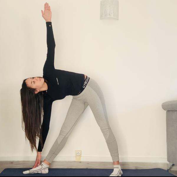 Miniature La posture du triangle ou Trikonāsana - Yoga