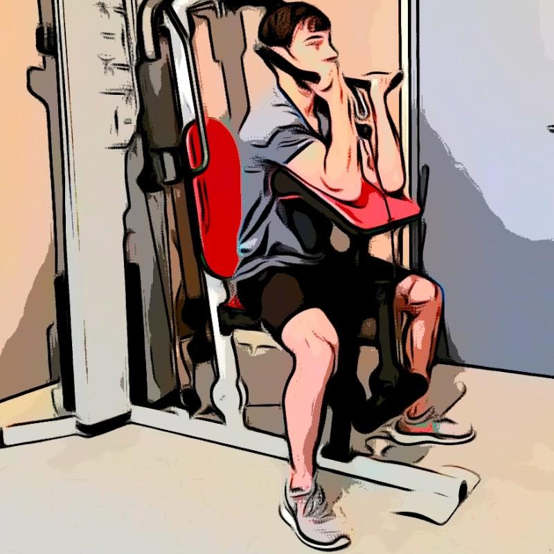 Curl biceps pupitre barre - Etape 2