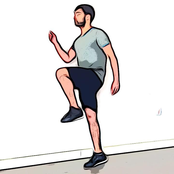 High knees - Etape 3
