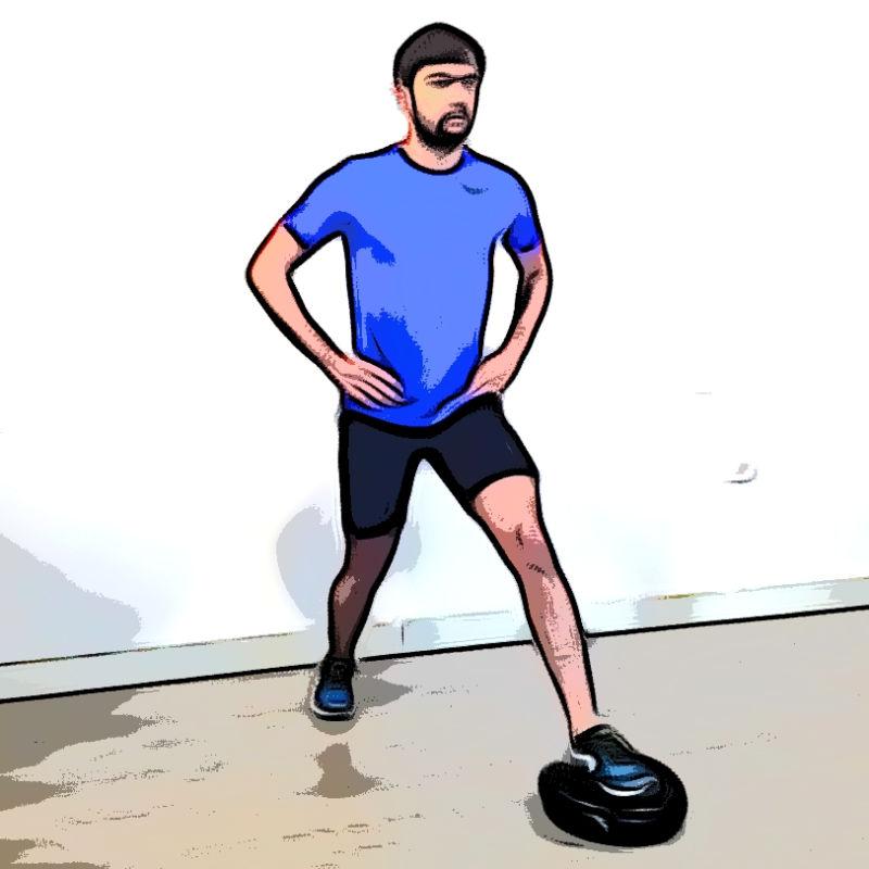 Fente avec coussin d'équilibre - Etape 1