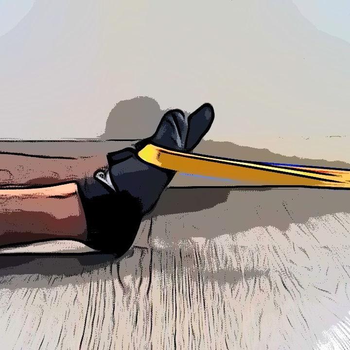 Dorsiflexion de le cheville avec élastique - Etape 3