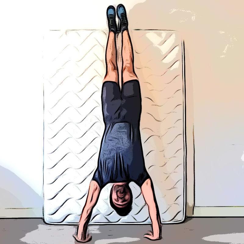 Handstand hold ou appui tendu renversé - Etape 1