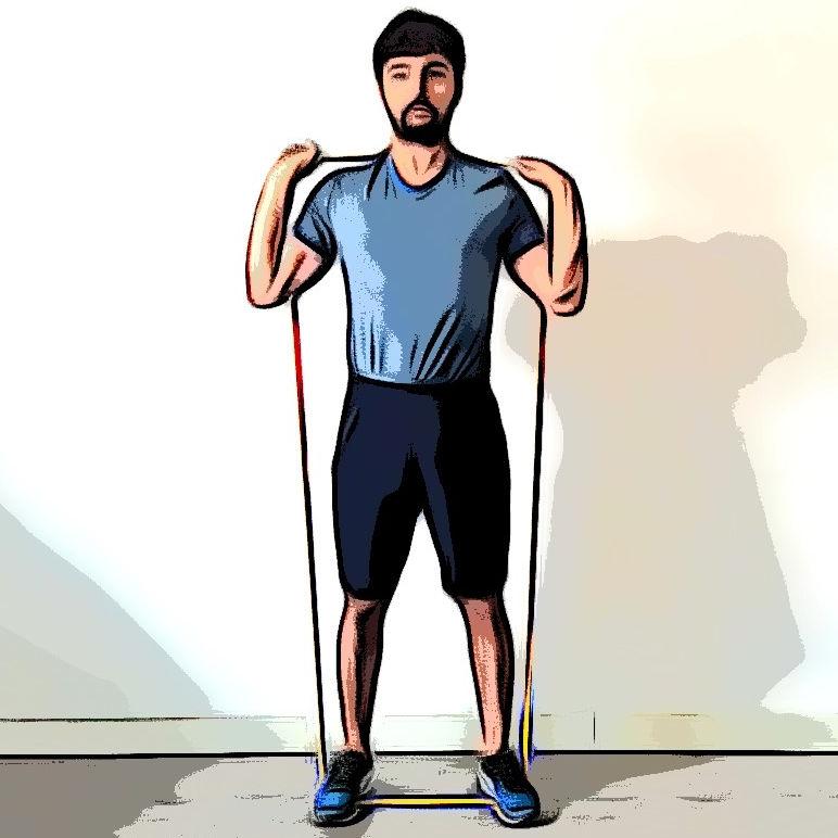 Squat avec élastique - Etape 1