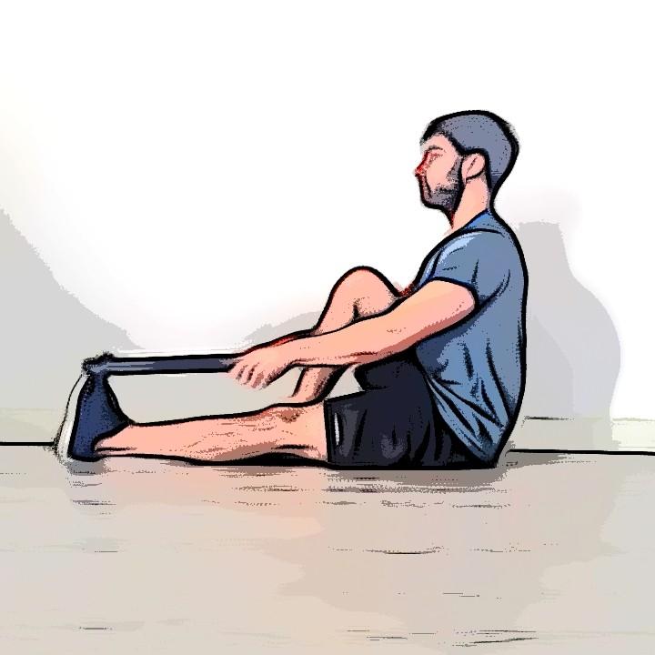 Miniature Étirement des mollets avec une jambe tendue et une jambe repliée