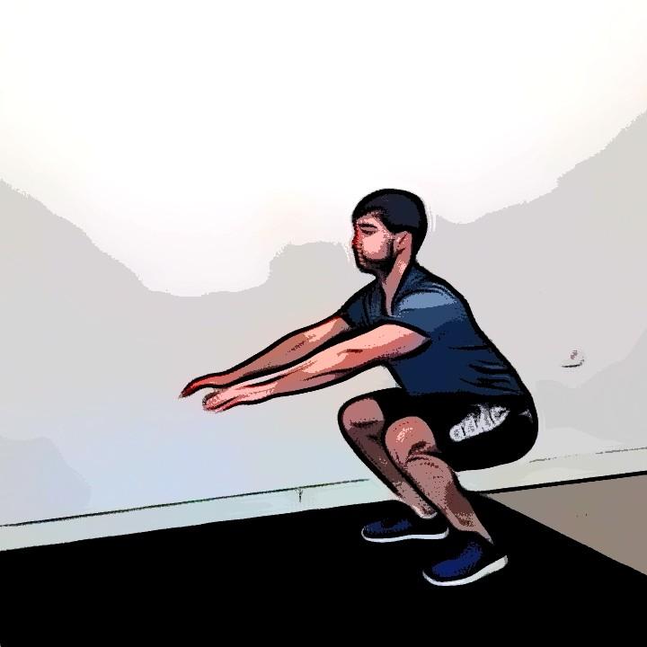 Kneeling jump squat - Etape 3