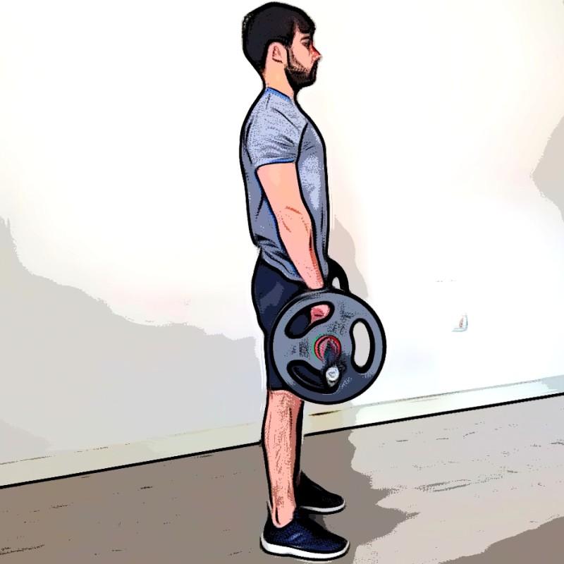 Curl biceps barre pronation - Etape 3