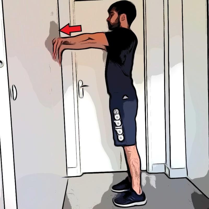 Étirement biceps bilatéral - Etape 2