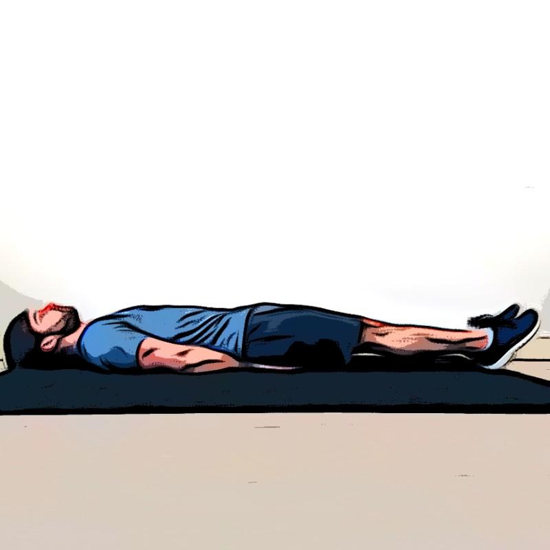 Lever de jambes au sol - Etape 1