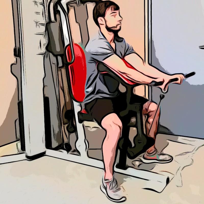 Curl biceps pupitre barre - Etape 1