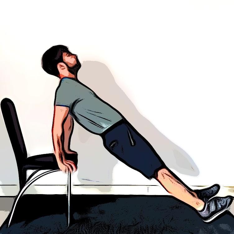 Triceps dips - Etape 1