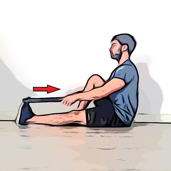 Étirement des mollets avec une jambe tendue et une jambe repliée - Etape 2