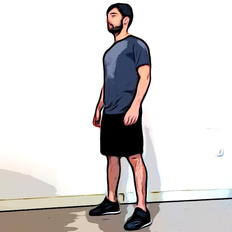 Squat au poids du corps - Etape 3