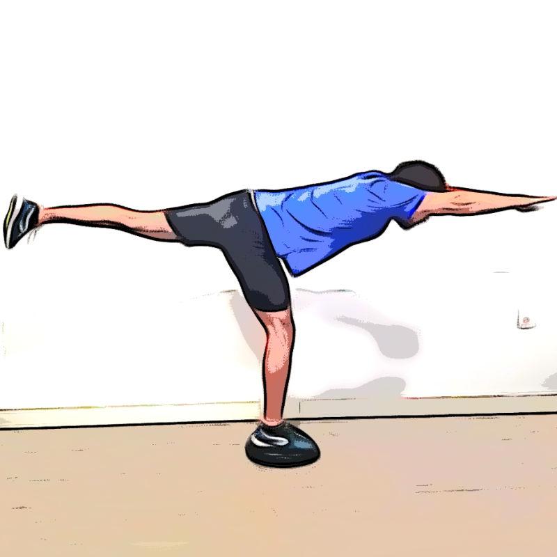 Équilibre horizontal sur une jambe