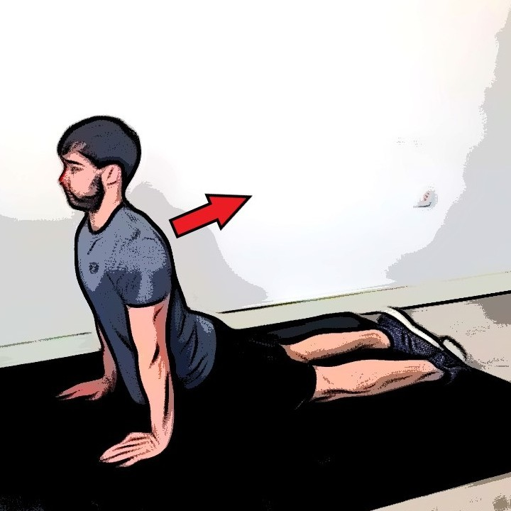 Étirement abdominaux - Etape 2