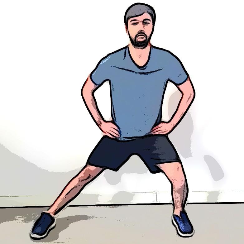 Étirement adducteur debout en flexion