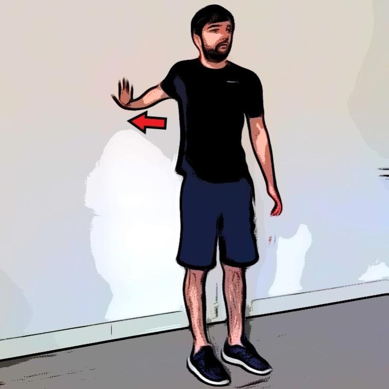 Étirement biceps bras tendu vers l'arrière - Etape 2