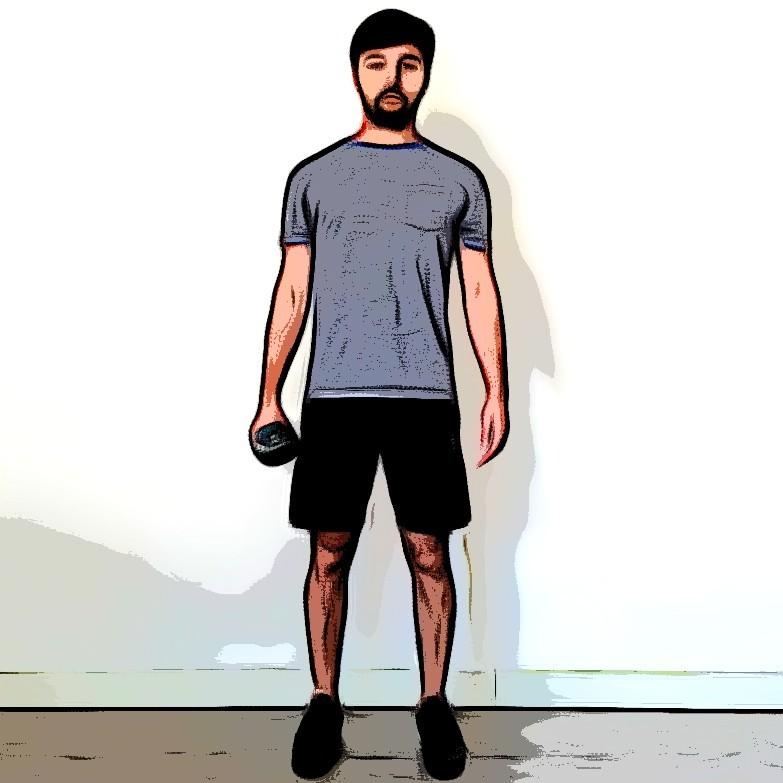 Flexion latérale oblique debout - Etape 1