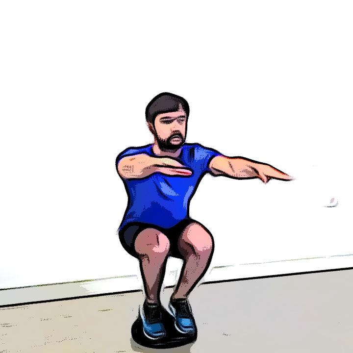 Miniature Squat avec coussin d'équilibre