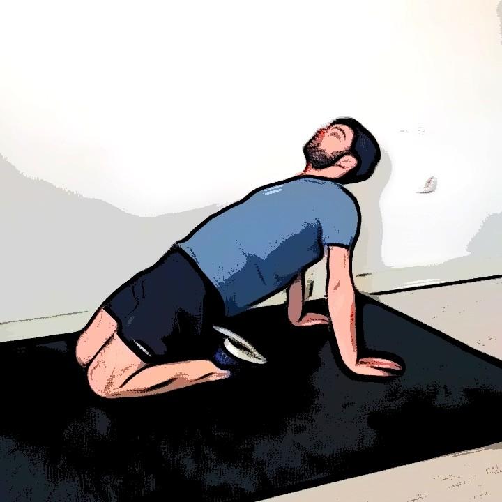 Étirement des quadriceps à genoux buste en arrière - Etape 1