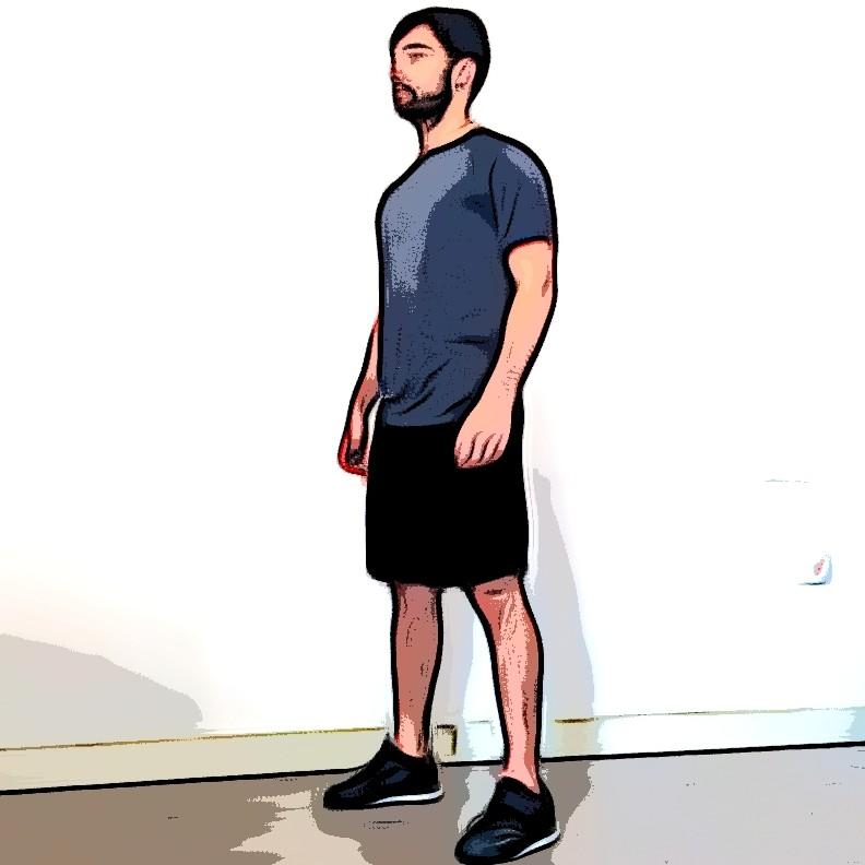 Squat au poids du corps - Etape 1