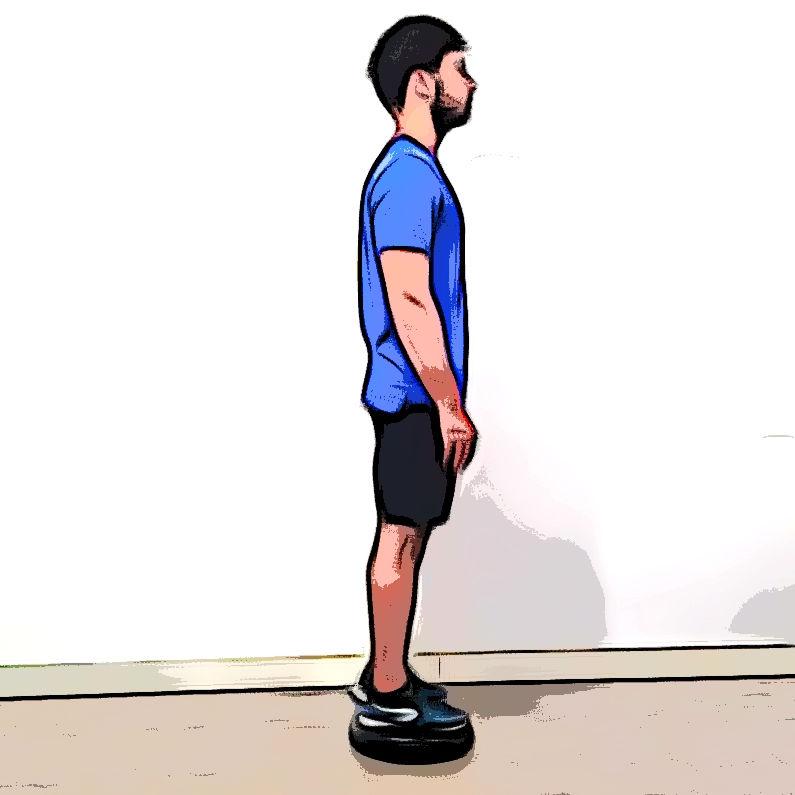 Équilibre horizontal sur une jambe - Etape 1