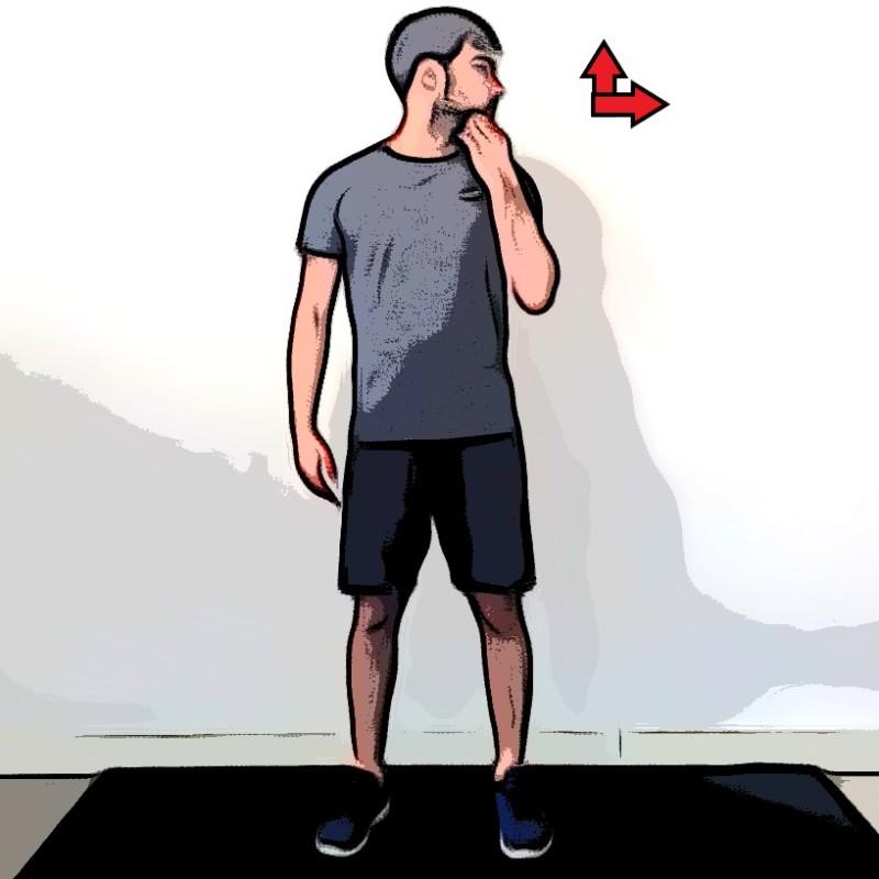Étirement du cou avec rotation de la tête - Etape 2