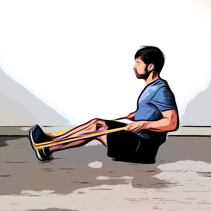 Tirage horizontal avec élastique